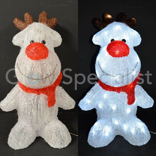 LED REINDEER ACRYLIC 60 LED - 44 CM