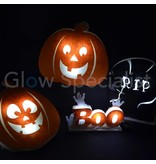 HALLOWEEN HANGING DECORATIONS LED PUMPKIN - 2 ASSORTED