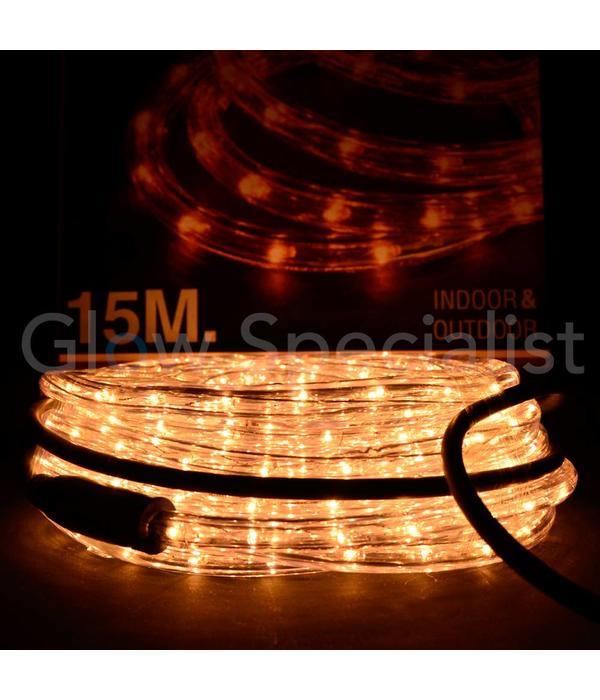 LICHTSLANG 15 METER - LED HELDER WARM WIT