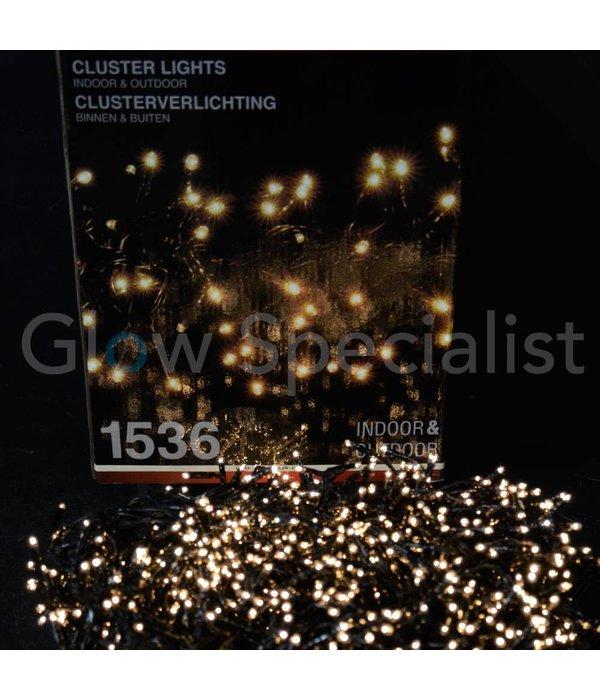 LED CLUSTERVERLICHTING - 1536 LAMPJES - WARM WIT