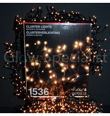 CLUSTER LIGHTS - 1536 LIGHTS - CLEAR WHITE - 1260 CM CORD