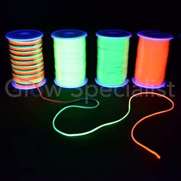 UV NEON NYLON CORD - 2 x 100 MM M
