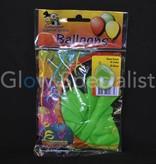 UV NEON BALLOONS - GREEN - 10 PIECES