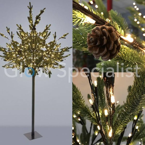 LED PINE TREE - WARM WHITE - 400 LEDS - 250 CM