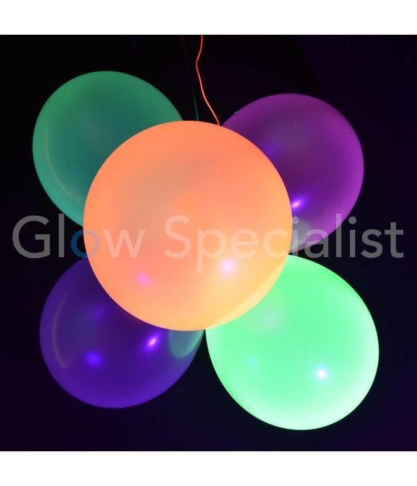 UV NEON BALLOONS - YELLOW - 100 PIECES