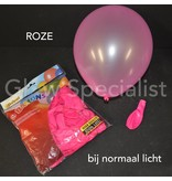 UV NEON BALLOONS - PINK - 100 PIECES
