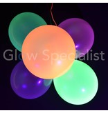 UV NEON BALLOONS - ORANGE - 100 PIECES
