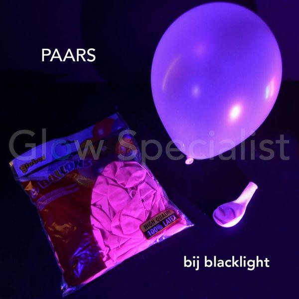 UV NEON BALLONNEN - 25 CM - PAARS - 100 STUKS