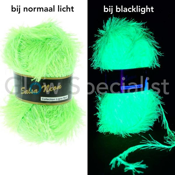 UV NEON FANTASY YARN - SALSA NEON - GREEN