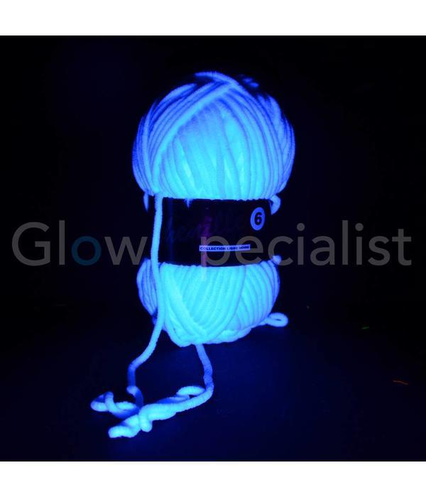 UV NEON FANTASY YARN - CHENILLE 6 - WHITE