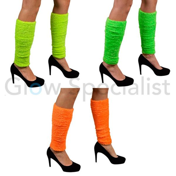 UV / NEON BLACKLIGHT LEG WARMERS PLUSH