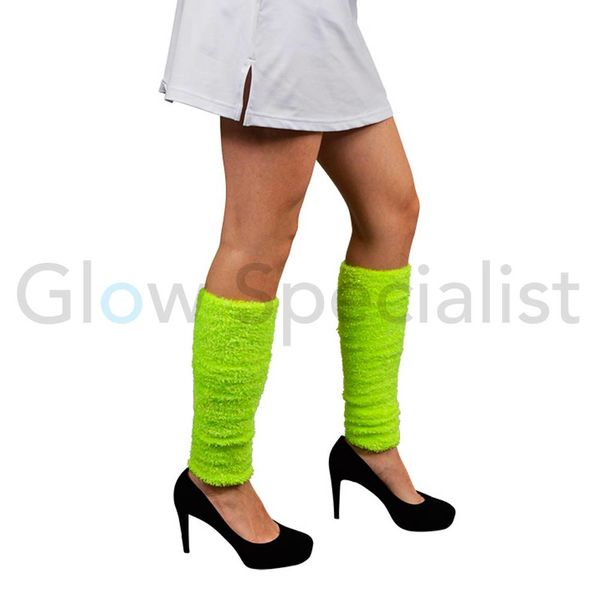UV / NEON BLACKLIGHT LEG WARMERS PLUSH