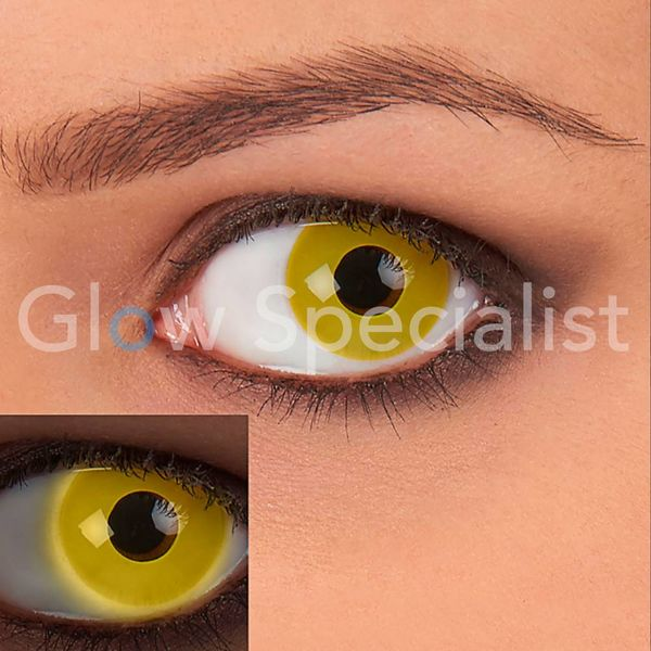 UV / BLACKLIGHT PARTY LENSES - YELLOW