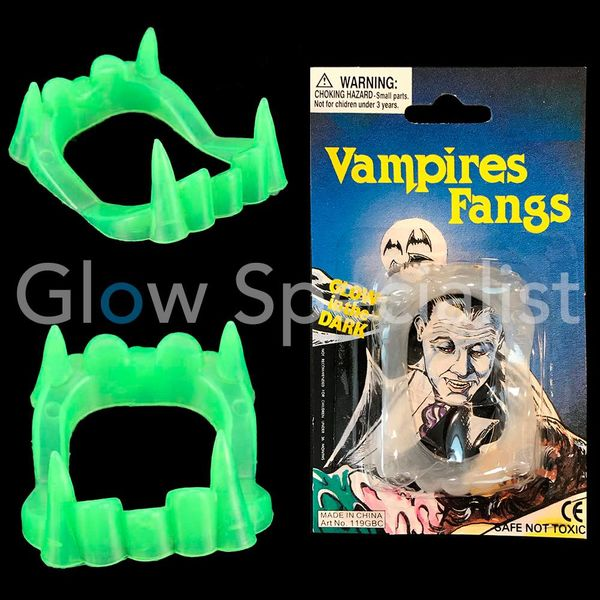 GLOW IN THE DARK VAMPIRE TEETH