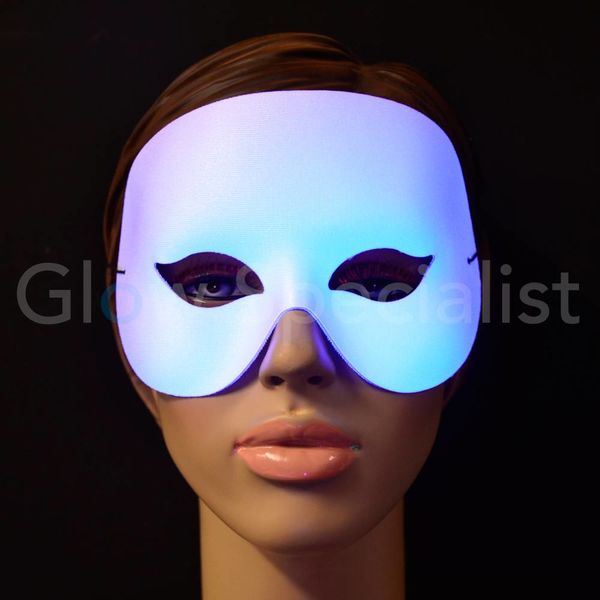 UV/BLACKLIGHT EYE MASK - COCKTAIL - WHITE