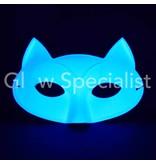 UV / BLACKLIGHT eye mask - CAT - WHITE