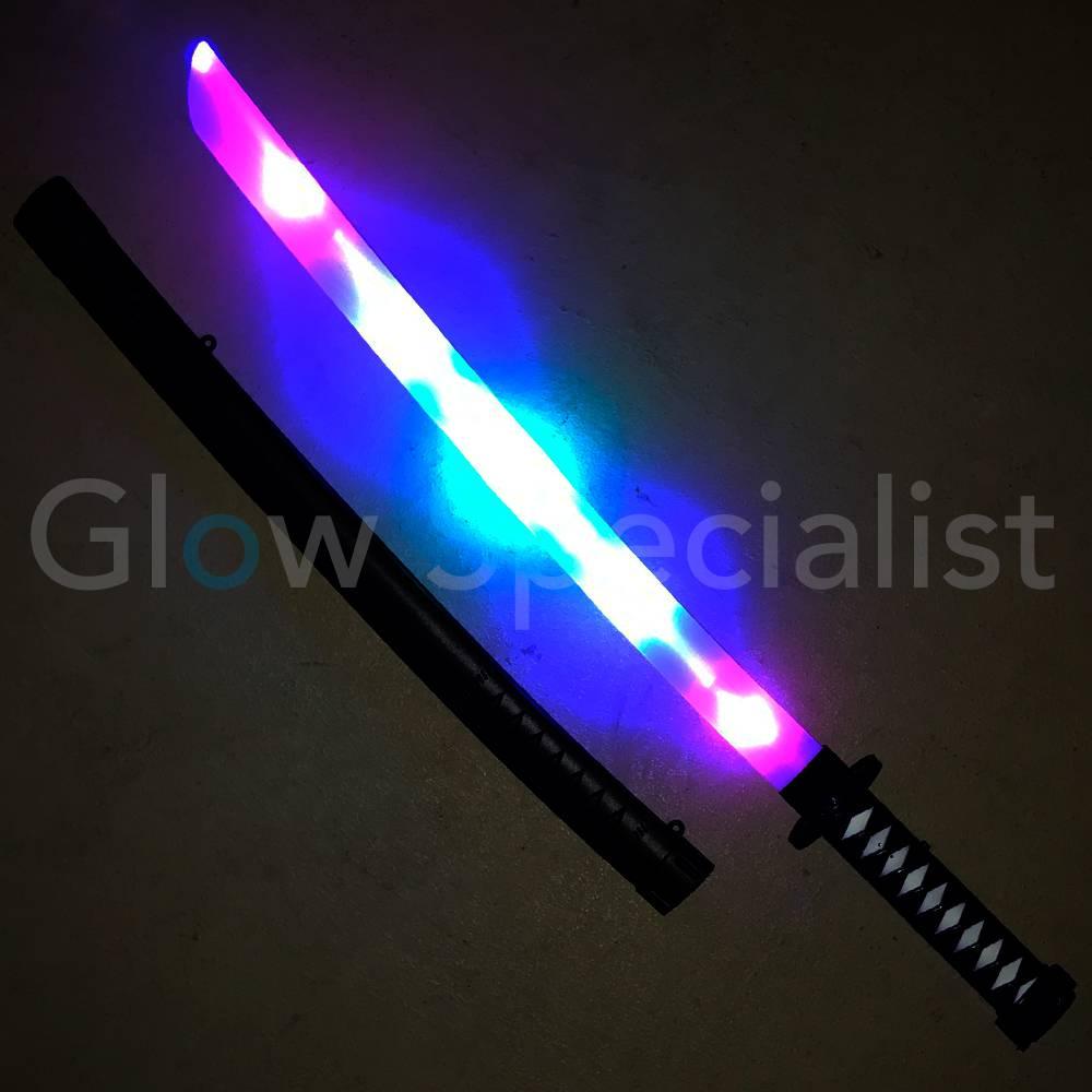 samurai led zwaard met licht en geluideffecten koop je bij glow specialist glow specialist. Black Bedroom Furniture Sets. Home Design Ideas