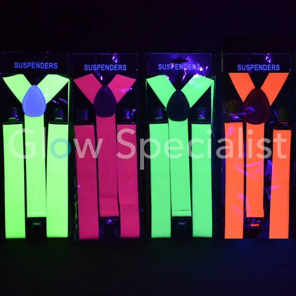 UV / BLACKLIGHT NEON BRETELS