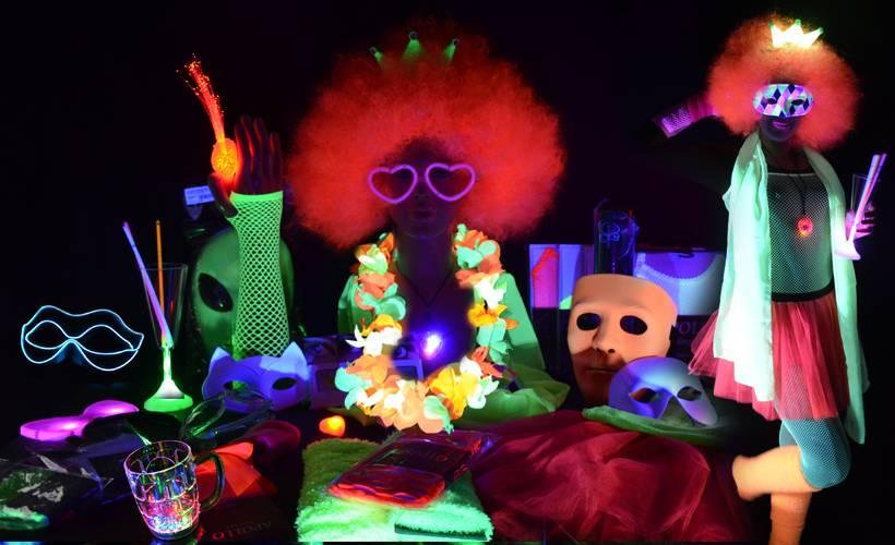 Carnaval en lichtgevende producten: een goede combinatie!