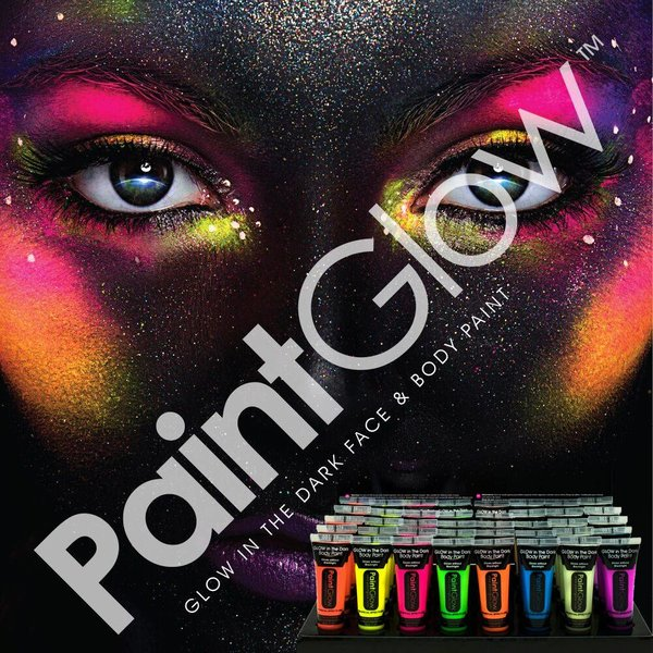 GLOW IN THE DARK FACE & BODYPAINT - set of 8
