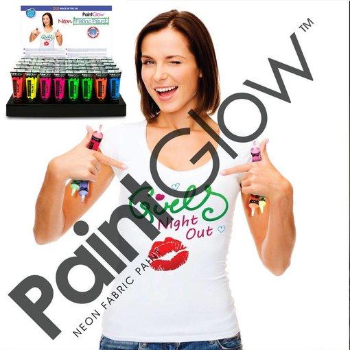 - PaintGlow GLOW UV FABRIC PAINT  - SET OF 6
