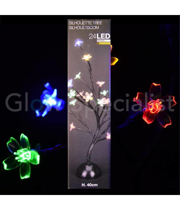 LED BLOSSOM TREE - 40 CM - MULTI COLOR - 24 LEDS