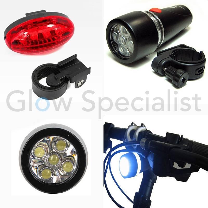 LED FIETSVERLICHTING SET - 5 LED - koop je bij Glow Specialist ...