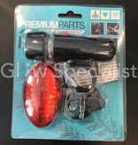 LED BICYCLE LIGHT SET WITH TORCH - 5 LED