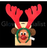 REINDEER SET - HEADBAND WITH RED LED NOSE