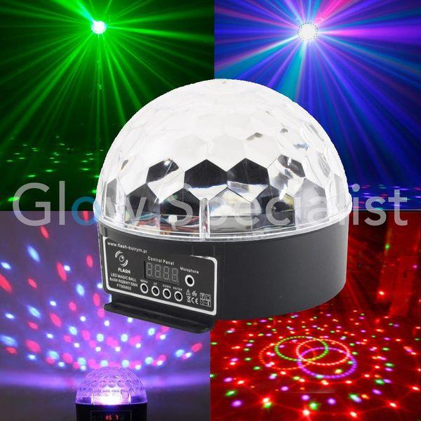 LED MAGIC BALL LIGHT - 6x3W - RGBWY - DMX