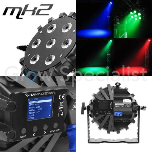 FLASH LED PAR-64 SLIM 7x10W RGBW Mk2