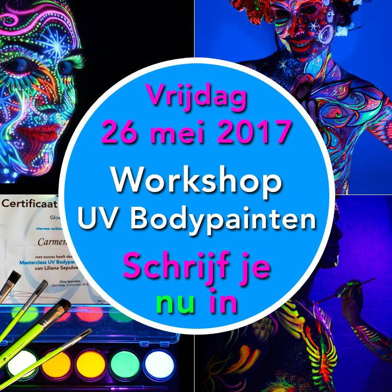Workshop UV Bodypainten 26 mei 2017