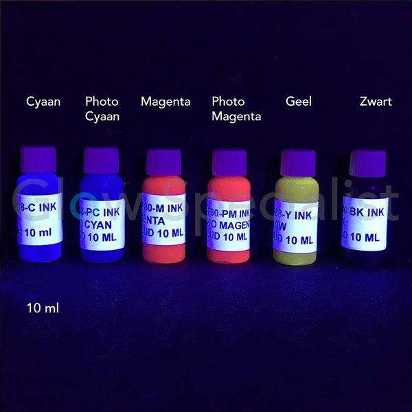 UV PRINTER INKT - SET MET 6 KLEUREN