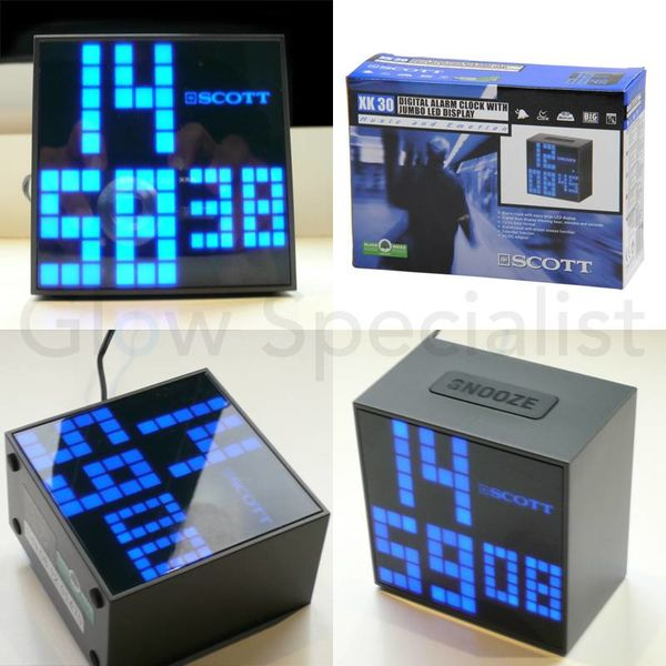 ALARM CLOCK WITH JUMBO LED DISPLAY