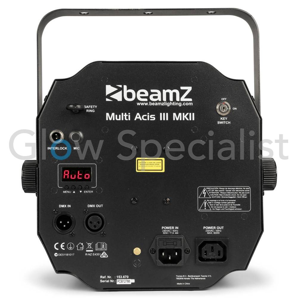 beamz multi acis iii leds with laser and strobe