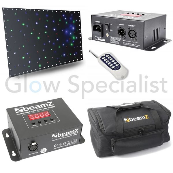 SPARKLE WALL LED96 RGBW 3X 2M MET CONTROLLER