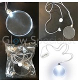 NECKLACE ​​WITH WHITE LED LIGHT - SET OF 10