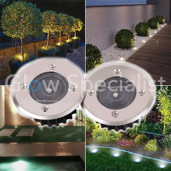 SOLAR LED SPOTS ROUND - SET OF 2