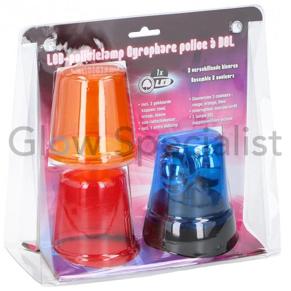 LED POLICE LIGHT - WITH 3 CAPS