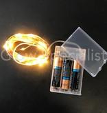 KOPERDRAAD VERLICHTING - 80 LED - EXTRA WARM WIT