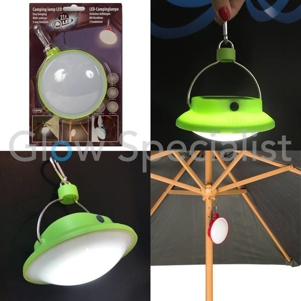 LED CAMPING LIGHT WITH CARABINER HOOK
