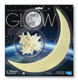 GLOW IN THE DARK MOON & STARS - 13 -PCS