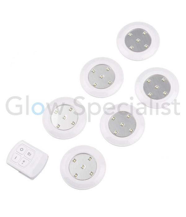 WIRELESS LED SPOTS - WITH REMOTE CONTROL AND TIMER - 7-PIECE