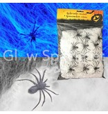 UV STRETCHABLE SPIDER WEB WITH 12 SPIDERS - 80 GRAM