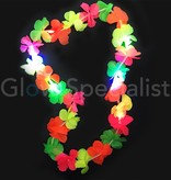 LUMINOUS HAWAIIAN NECKLACE WITH FLASHING MULTICOLOR  LIGHTS