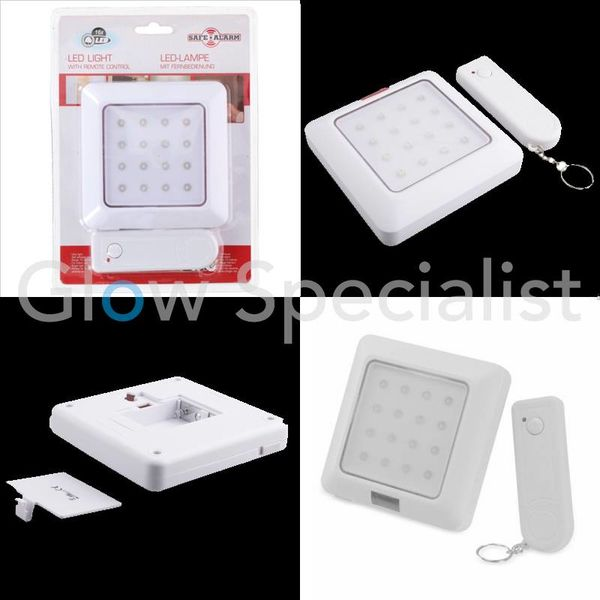 LED NIGHT LIGHT WITH MOTION SENSOR AND REMOTE CONTROL - 16 LED