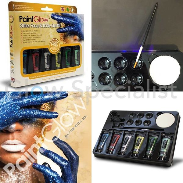 PAINTGLOW GLITTER FACE & BODY GEL KIT