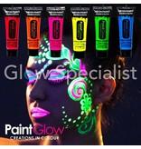 - PaintGlow PAINTGLOW BLACKLIGHT FACE & BODY PAINT KIT - SET VAN 6 TUBES