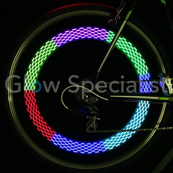 led fietsspaakverlichting rainbow