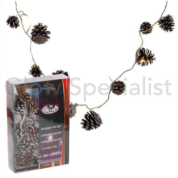 LED CHRISTMAS STRINGLIGHT WITH PINECONES
